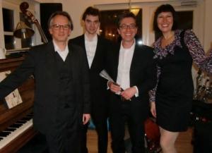 Michele Alberti Trio und Sängerin Inga Saalmann